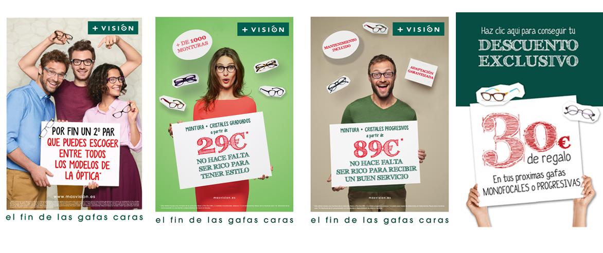 Imágenes de ofertas y comunicaciones Masvisión