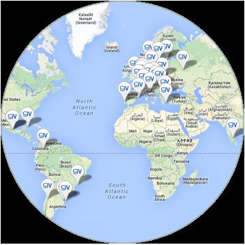 Mapa de expansión internacional GrandVision | +Visión